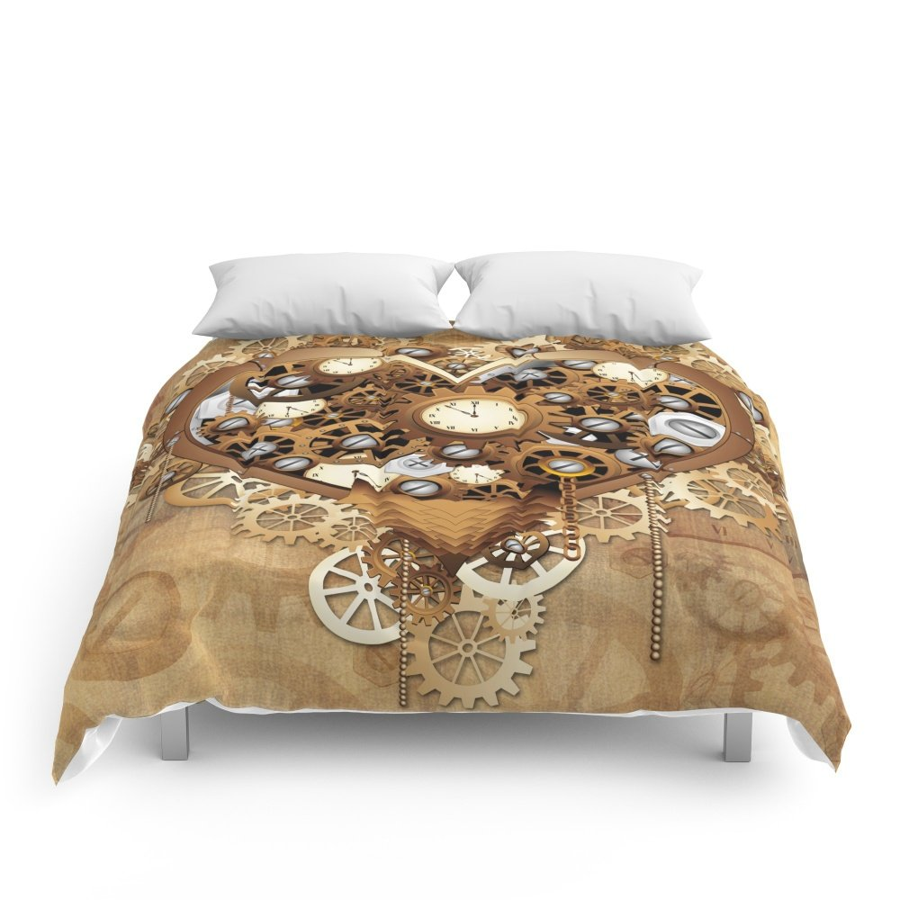 "Society6 Steampunk Heart Love Comforters Queen: 88"" x 88"""