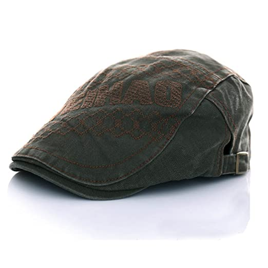 9cfc09a69a8 King Star Denim Newsboy Flat Cap Gatsby Cap ivy Irish Cabbie Driver Hunting  Hat Green