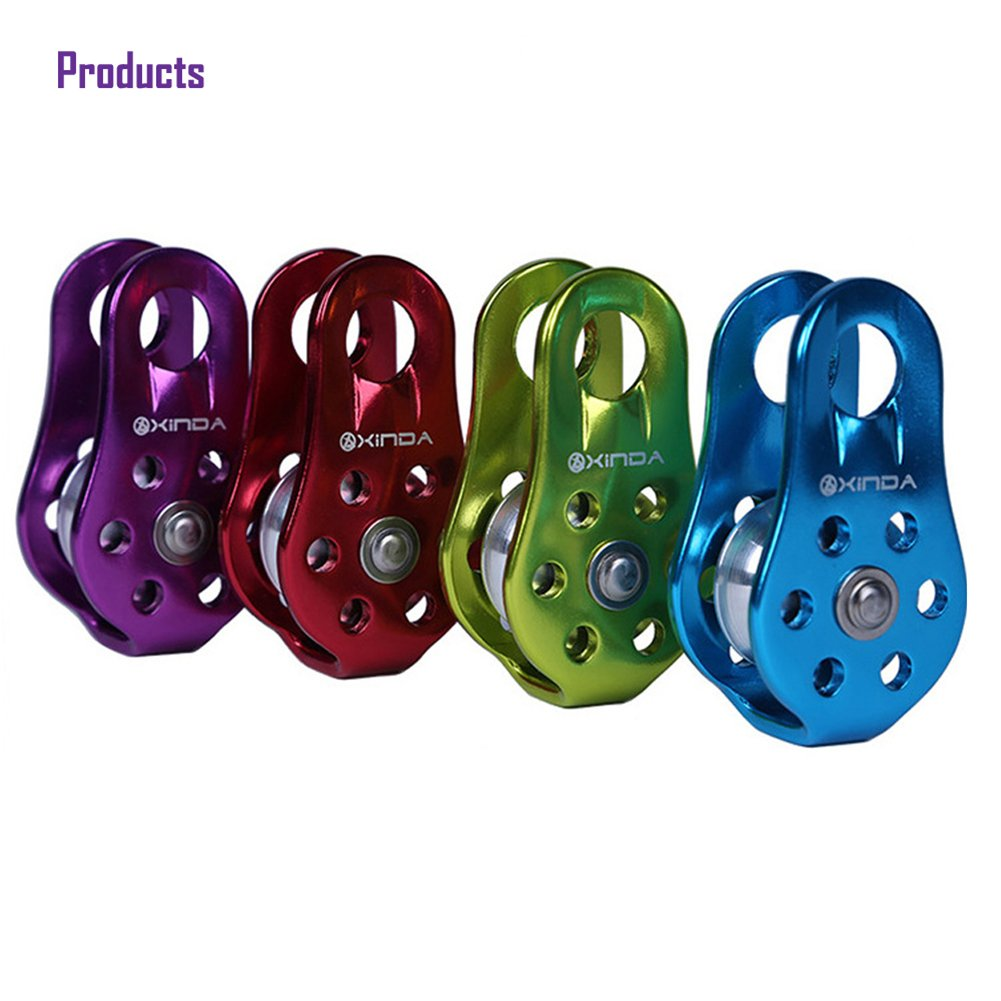 Balai Outdoor Travel Kits Hiking Climbing Rope Pulley Single Fixed Pulley Mountaineering Rope Climbing Rappelling Green