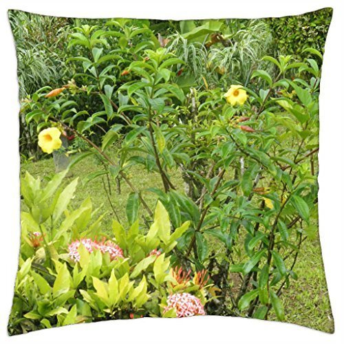 (Yellow Flowers from St. Lucia Islands - Throw Pillow Cover Case (18)