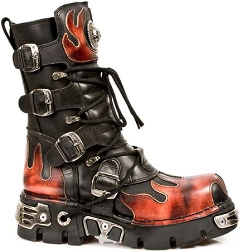 | New Rock Newrock 591 S1 Red Flame Metal Black