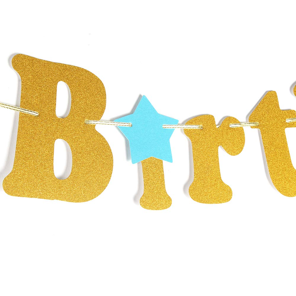 Baby Birthday Party Decorations Chien-Min666 Third Birthday Bunting Happy 3rd Birthday Banner