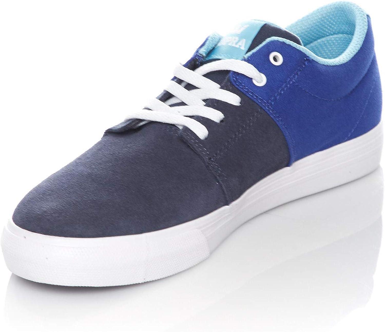 Supra Children Kids Stacks II Vulc Royal Navy White Shoes Size 5