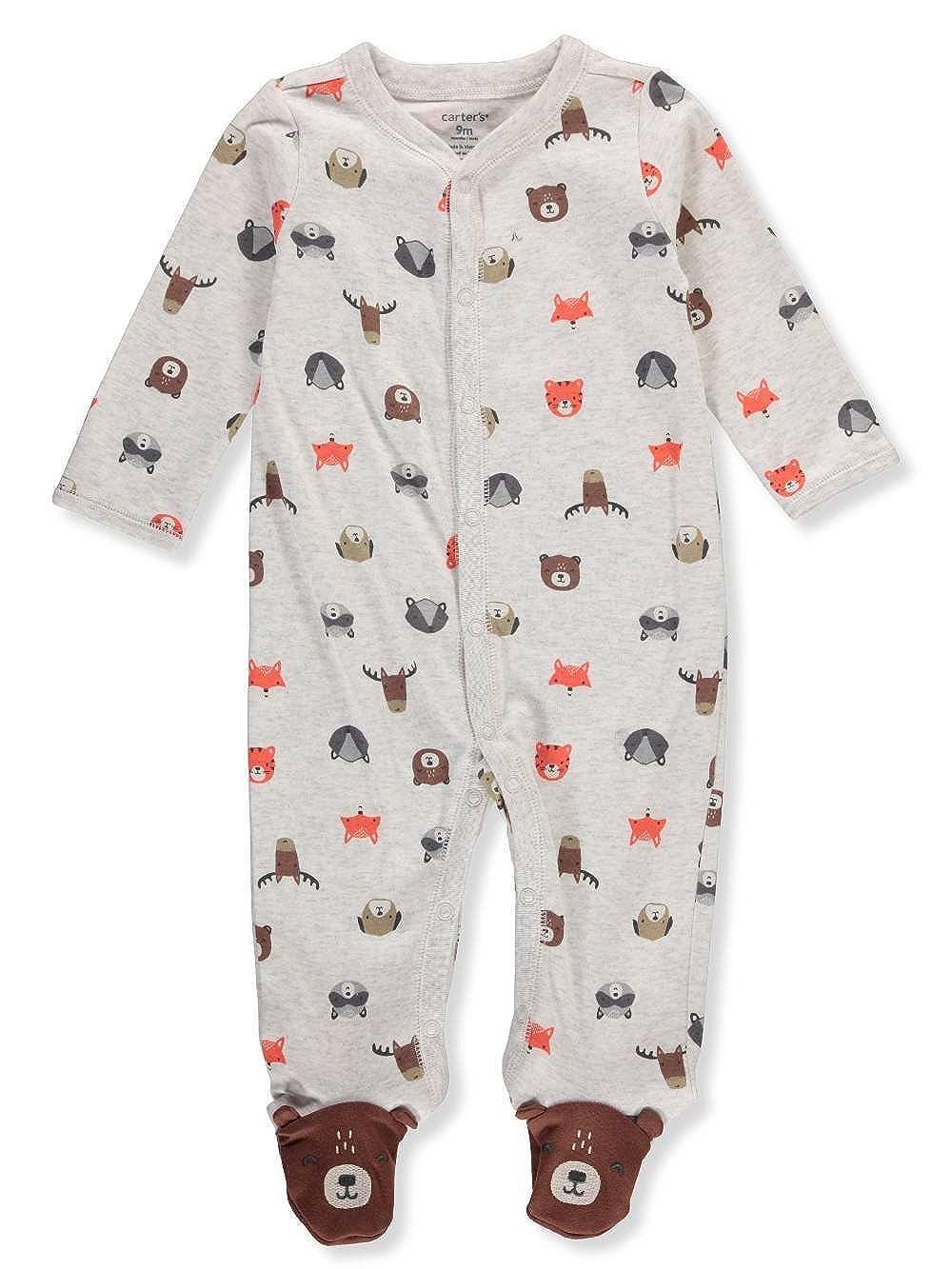 Carter's SLEEPWEAR ベビーボーイズ B07F3CXFBW Wild Animals Newborn Newborn|Wild Animals