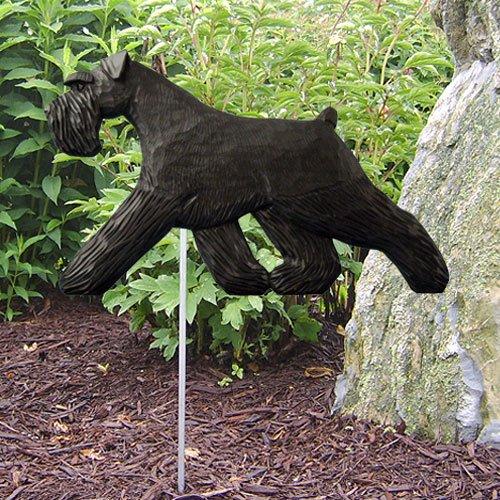 Schnauzer Natural (BLACK NATURAL Schnauzer Garden Stake by Michael Park)