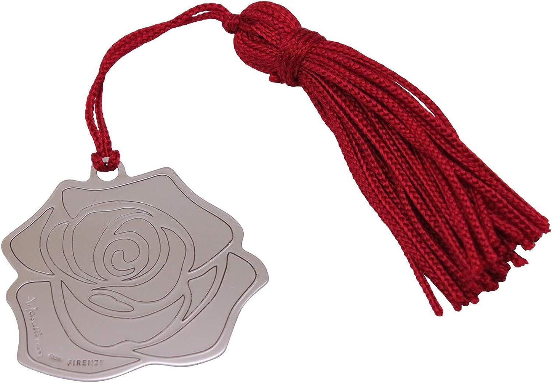 Arfasatti Segnalibro Rosa in Argento 925 Fatto a Mano in Italia