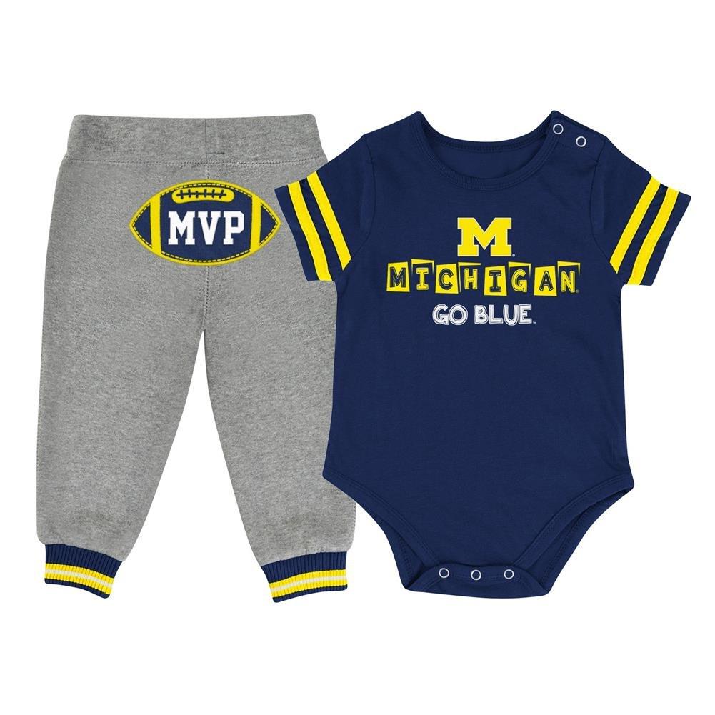 Michigan Wolverines NCAA Infant MVP Onesie /& Pant Outfit Set