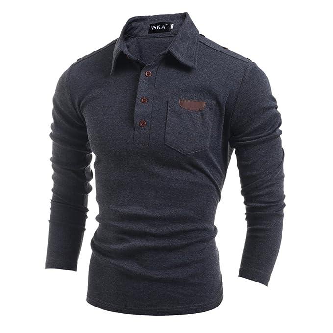 COCO clothing Otoño Primavera Vintage Polo Shirt Hombre Suéter ...
