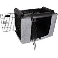 """Petsfit 30"""" Lx19 Wx21 H Crate Cover, for 3000 Wire Crates,Two Doors (Grey)"""