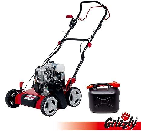 Grizzly Benzin Vertikutierer BRV 400 S, 40 cm Arbeitsbreite, 131cc 4Takt Motor, 2,2 kW 3PS, inkl. Vertikutierwalze und 5 Lite