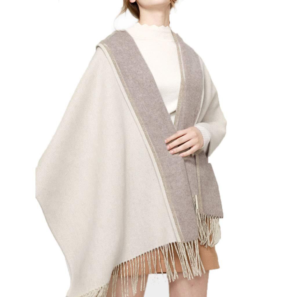 Shawl Woman,DoubleSided Lamb Cashmere Keep Warm,A