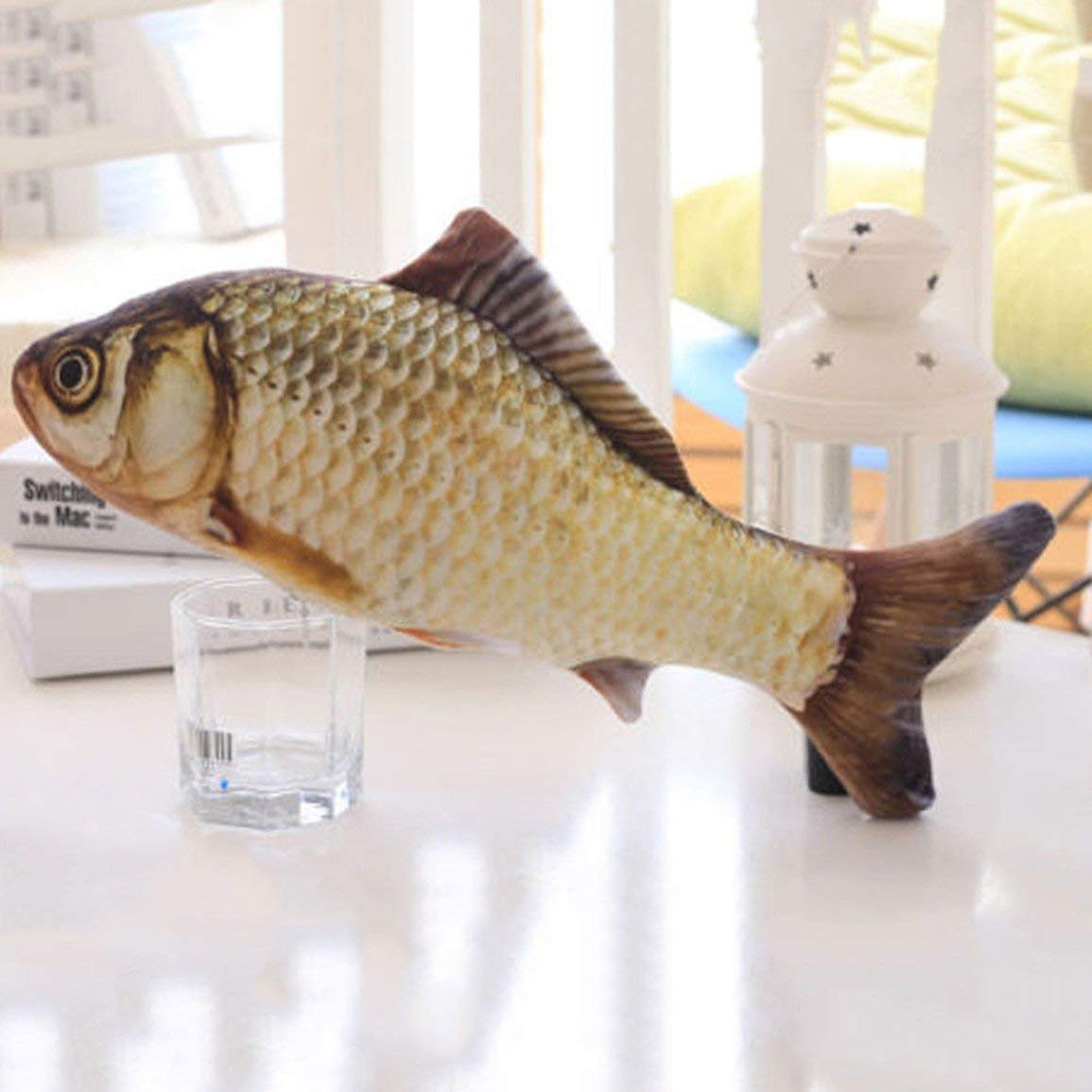Pet Cat Play Crucian Fish Shape Mint Catnip Chewing Kids Gifts Scratch Toy Cat Favor Simulation Fish Pet Product Supplies