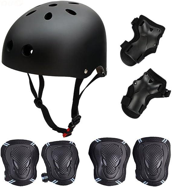 La Sports Kids//Childs//Childrens Black Pro Skate Helmet and Pads Ideal For...