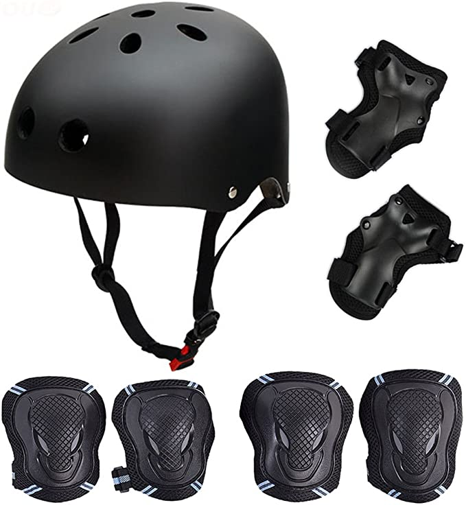 Details about  /7in1 Kids Bike Helmet Kits With Protect Knee Wrist ElbowPads Roller Skating