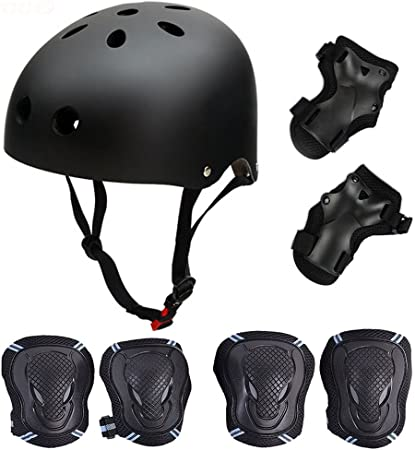 Kids Skateboard Safety Helmet​ Pads Set Knee Wrist Elbow Protective Gear Sets