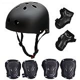 SymbolLife Helmet Skate Protektoren Set mit Helmet Knie Pads Elbow Pads mit Handgelenkschoner für Skate Skateboard Roller Skate BMX Bike