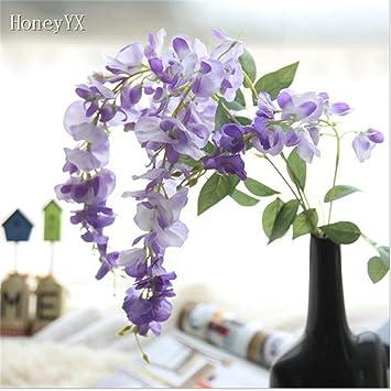 Amazon.de: Weiß Lila Blume Vine Aufhängen Girlande Hochzeit Bouquet ...