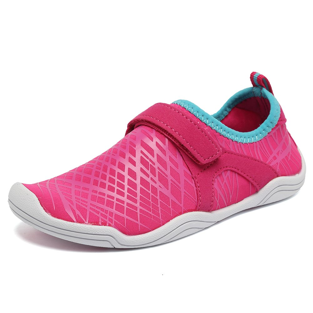 Fanture Girls & Boys Water Shoes Lightweight Comfort Sole Easy Walking Athletic Slip on Aqua Sock(Toddler/Little Kid/Big Kid) U4JSX001-Pink-33
