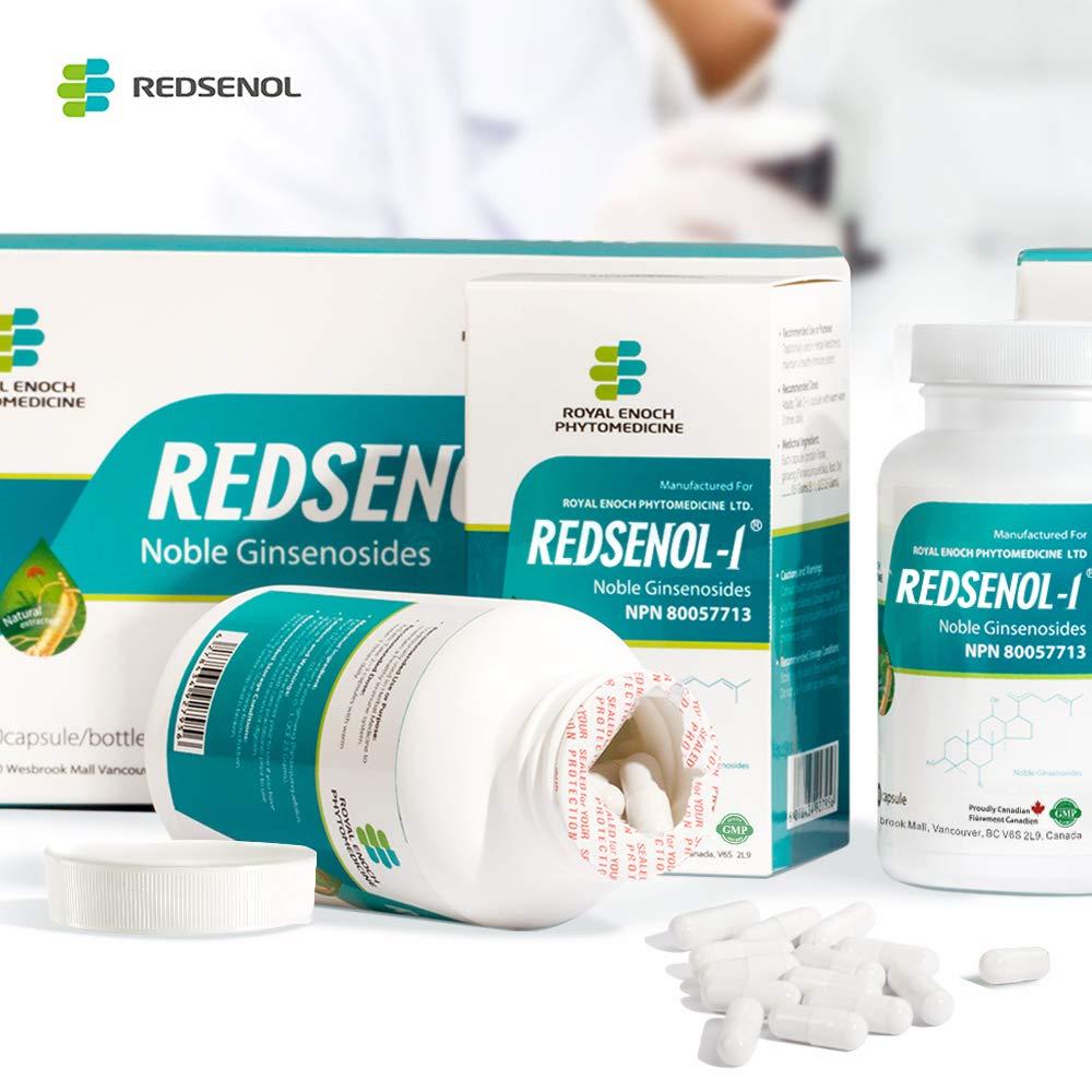 Redsenol – Contain 16 Rare Ginsenosides: Rk2 Rg5 Rh2 Rk1 Rk3 – Panax Ginseng Extract, 12% Rare Ginsenosides – 3 Bottles x 90 Capsules