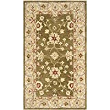 Cheap Safavieh Anatolia Collection AN562D Handmade Traditional Oriental Moss and Ivory Wool Area Rug (3′ x 5′)