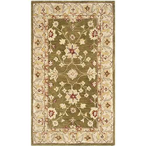 Moss Green Traditional Rug - 8