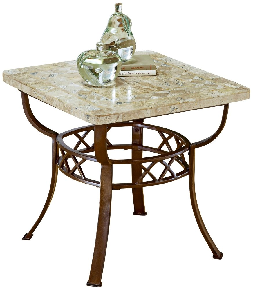Amazon.com: Hillsdale Brookside Fossil Stone End Table: Kitchen U0026 Dining