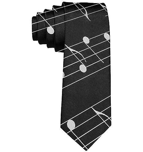 Corbata Corbatas divertidas Teclas de piano en blanco y negro ...