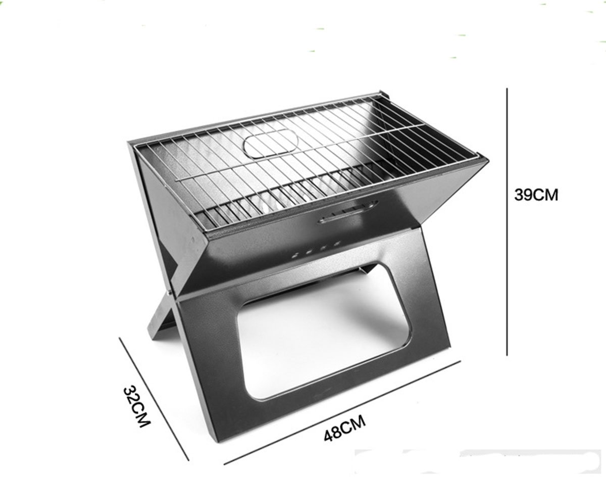 KAMINUO Fire Sense Notebook Charcoal Camping Outdoor Grill BBQ Barbecue Folds flat