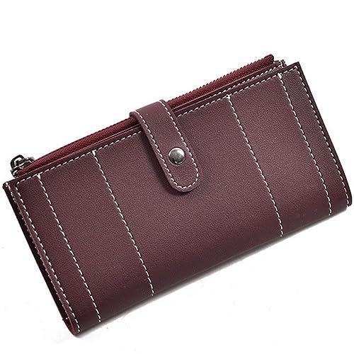Women Purse Wallet Fashion Soft Bag My.monkey Brand(Wine red ... 6fc7de35c9