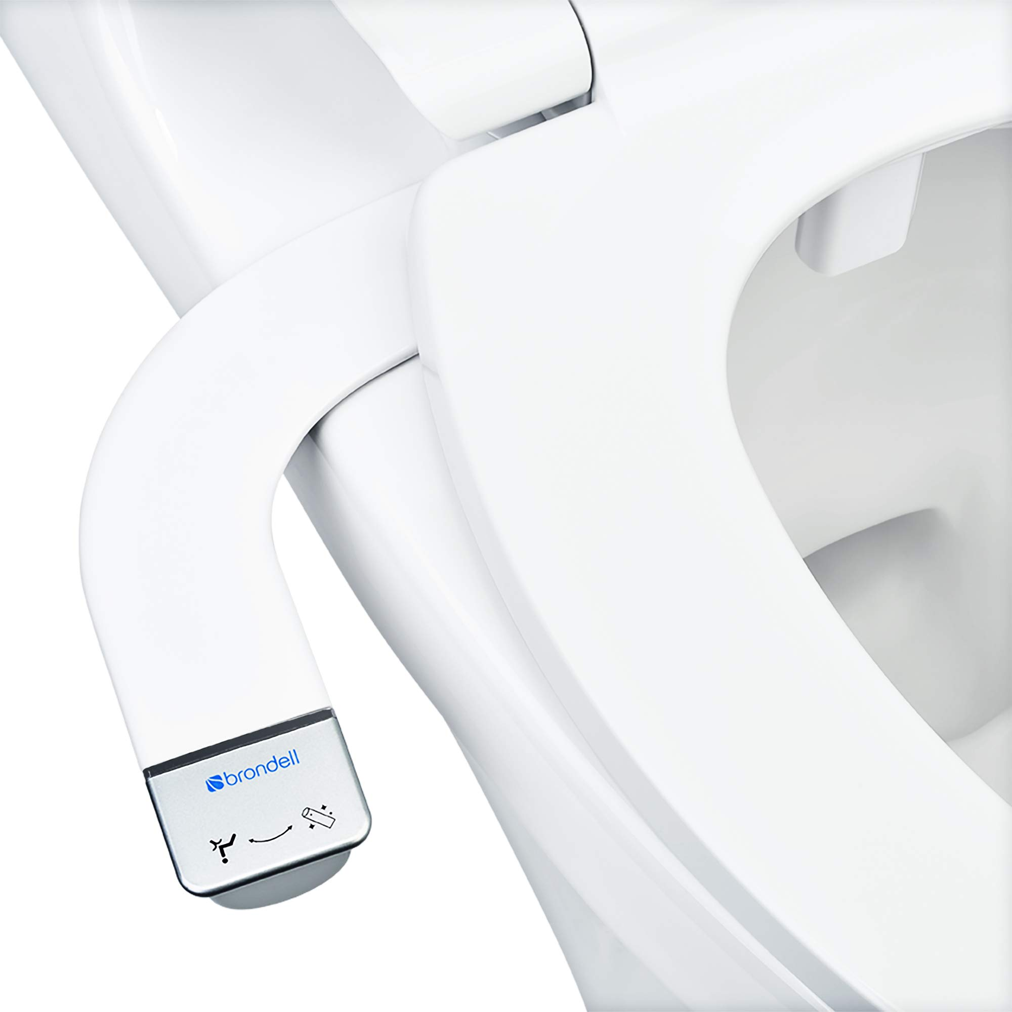 Brondell Bidet - Thinline SimpleSpa SS-150 | Fresh Water Spray | Non-Electric | Bidet Toilet Attachment in White with Self Cleaning Nozzle | SafeCore Internal Valve | Nozzle Guard | Easy to Install