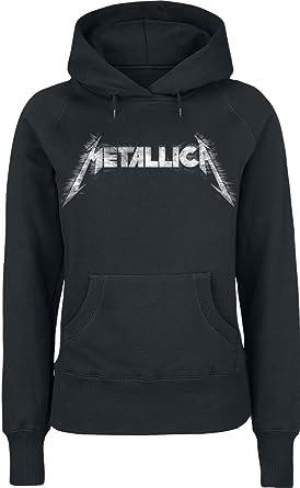 Metallica Spiked Sudadera con Capucha Negro: Amazon.es: Ropa y accesorios