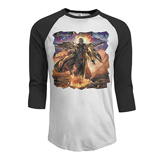 JeremiahR Judas Priest Redeemer of Souls Men s 3 4 Sleeve Raglan Baseball T  Shirt Black 4843dedc8