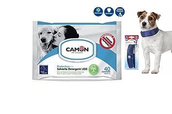Camon Toallitas al aceite de neem y lavanda & collar Refrescante para perros 26,5