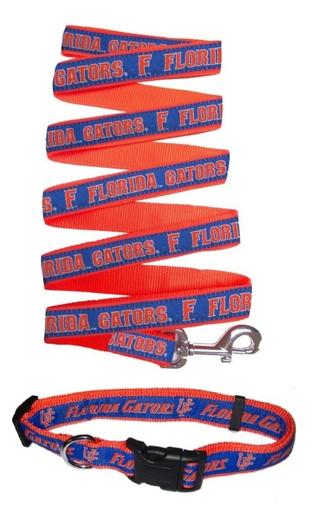 Size Large Florida Gators Nylon Collar and Matching Leash for Pets NCAA Official by Pets First