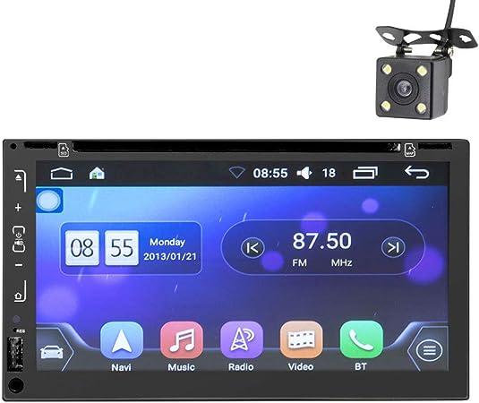 Sistemas De Audio Navegación GPS Para Vehículos, Reproductor De DVD Con Pantalla Táctil Doble Din De 6.95 Pulgadas, Llamadas De Audio Bluetooth, Wifi, TV, Entrada Auxiliar, Receptor De Radio AM FM: Amazon.es: