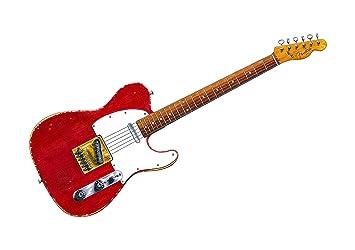 George Morgan Illustration Guitarra Fender Telecaster de Muddy Waters de impresión de póster A1 tamaño: Amazon.es: Hogar