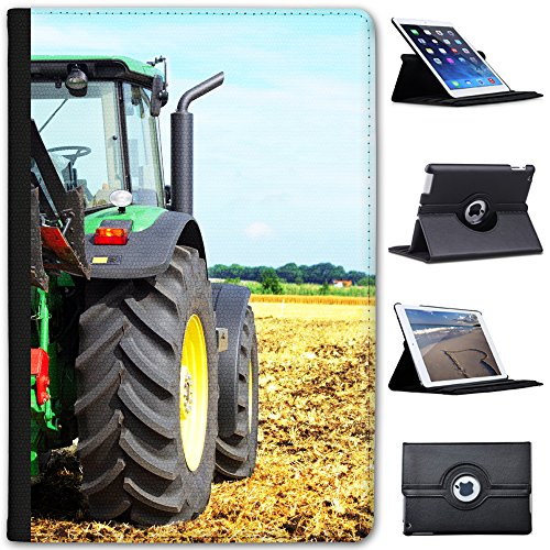 Leather Case for Apple iPad Mini 4 (Will ONLY fit The iPad Mini 4) - Modern Green Tractor - Modern Tractor Green