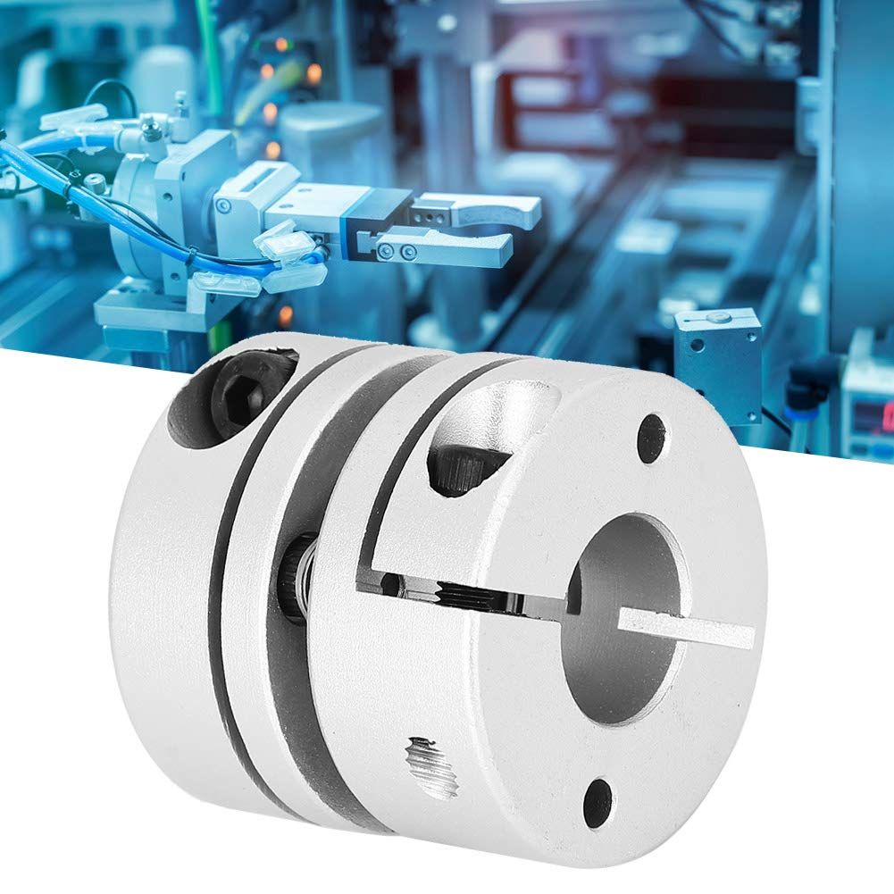 GS‑34x32‑14x14 Shaft Coupler Single Diaphragm Flexible Plum Coupling Connector Stepper Motor Accessories for Power Transmission System