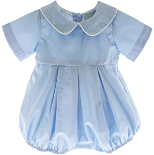 c779b6099bdd Hiccups Childrens Boutique Boys Dressy Bubble Outfit Peter Pan Collar Christening  Romper