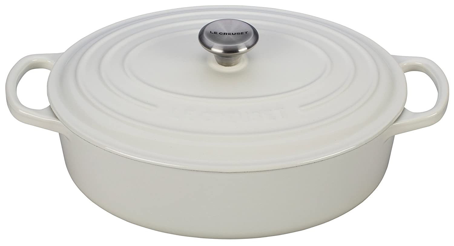 Le Creuset Enameled Cast Iron Signature Oval Dutch French Oven, 2 3/4 quart, White