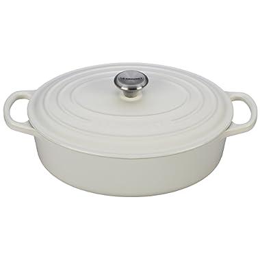 Le Creuset Enameled Cast Iron Signature Oval Dutch French Oven, 2 3/4 quart, White
