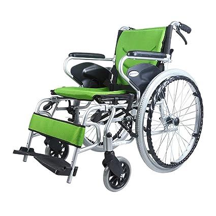 Silla de ruedas Plegables Ligeras Autopropulsadas, Aluminio ...