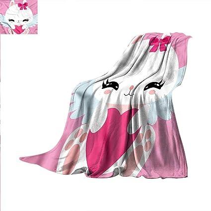 Amazon Kawaii Throw Blanket Bunny With Wings And Heart Velvet Classy Kawaii Throw Blanket