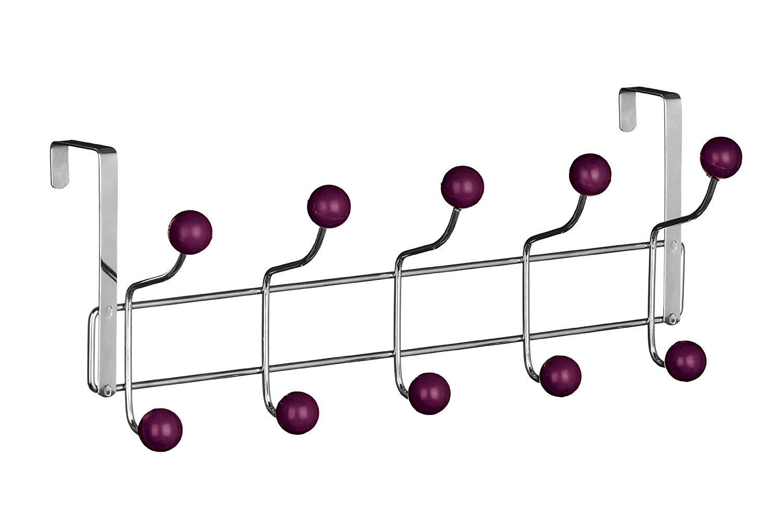DWD Tü rgarderobe, 10 Haken violett