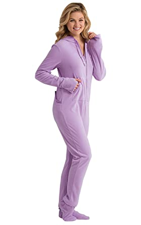 3b46985f14ad Amazon.com  PajamaGram Womens Onesie Fleece Pajamas - Drop Seat ...