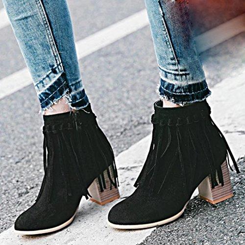 AIYOUMEI Women's Classic Boot Black ObhxN
