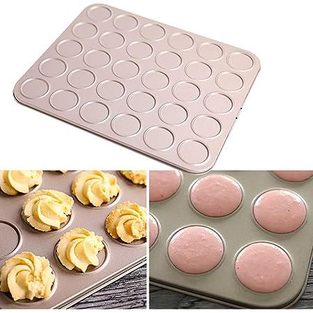 Ye623 - Molde de silicona para horno, diseño de macarons 30 * 25 ...