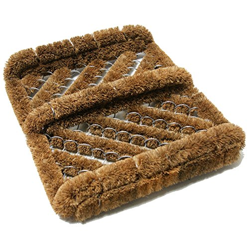 "Price comparison product image Rubber-Cal ""Herringbone"" Coir Boot Scraper Brush, 2.5 by 12 by 13-Inch"