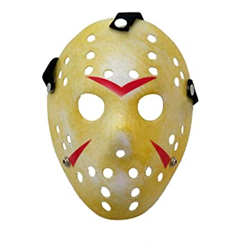 WSLG Horror Killer Máscara Oro De La Vendimia Jason Voorhees Freddy Hockey Festival Partido De La