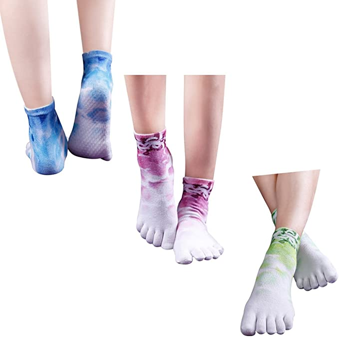 Yoga Socks, Jcolour Womens Low Rise Grip Non-Slip for Ballet, Pilates, Barre Toe Socks